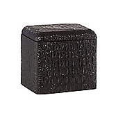 Biba Glass Croc Cotton Jar In Black