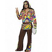 Psychadelic Hippy - Adult Costume Size: 42-44
