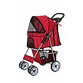 Confidence Deluxe Four Wheel Pet Stroller Red
