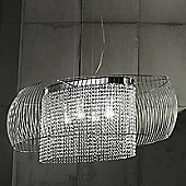 Metal Lux Nido Four Light Pendant - Silver