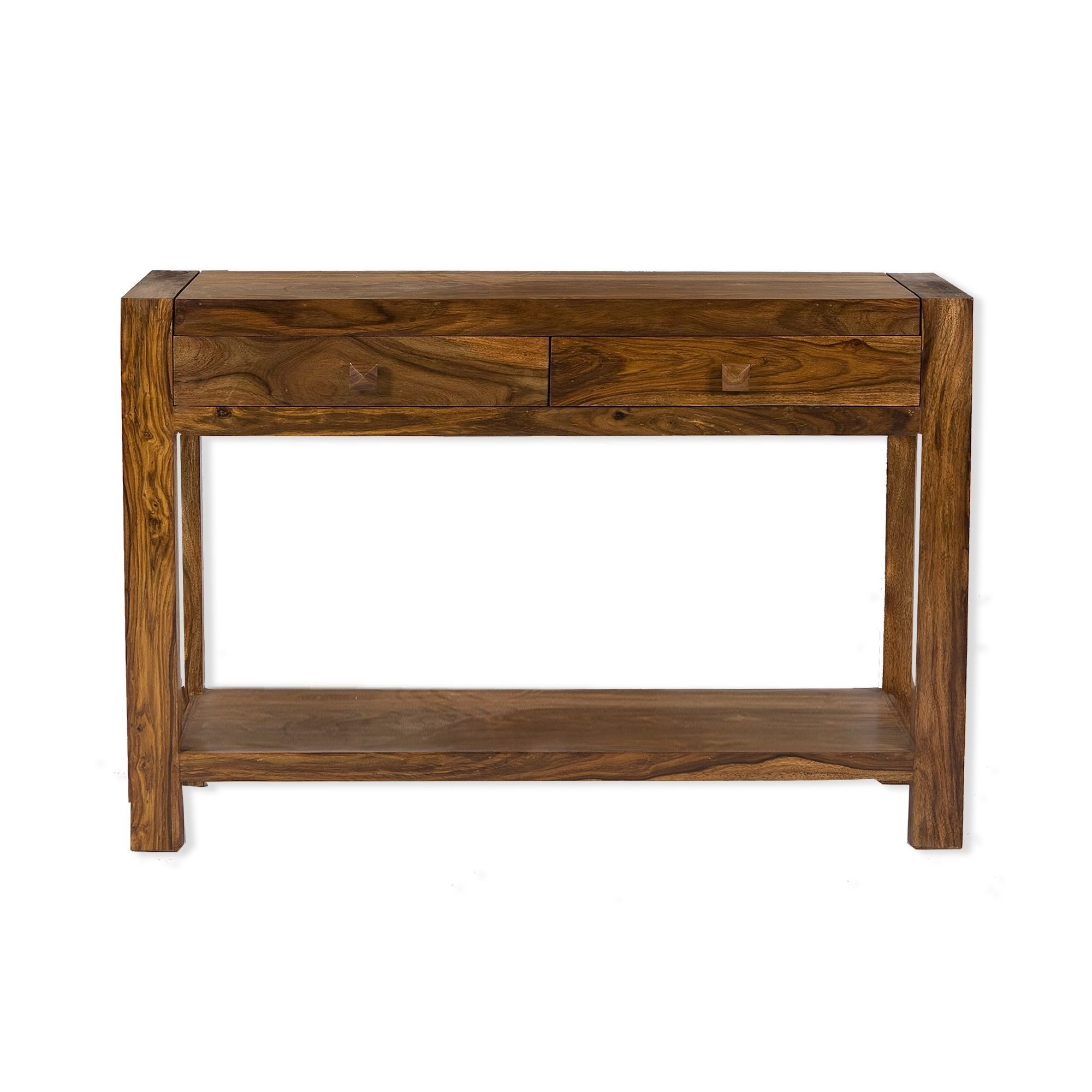 Elements Block Console Table in Warm Lacquer at Tesco Direct