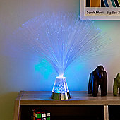Blue Battery Fibre Optic Lamp with Colour Changing Base