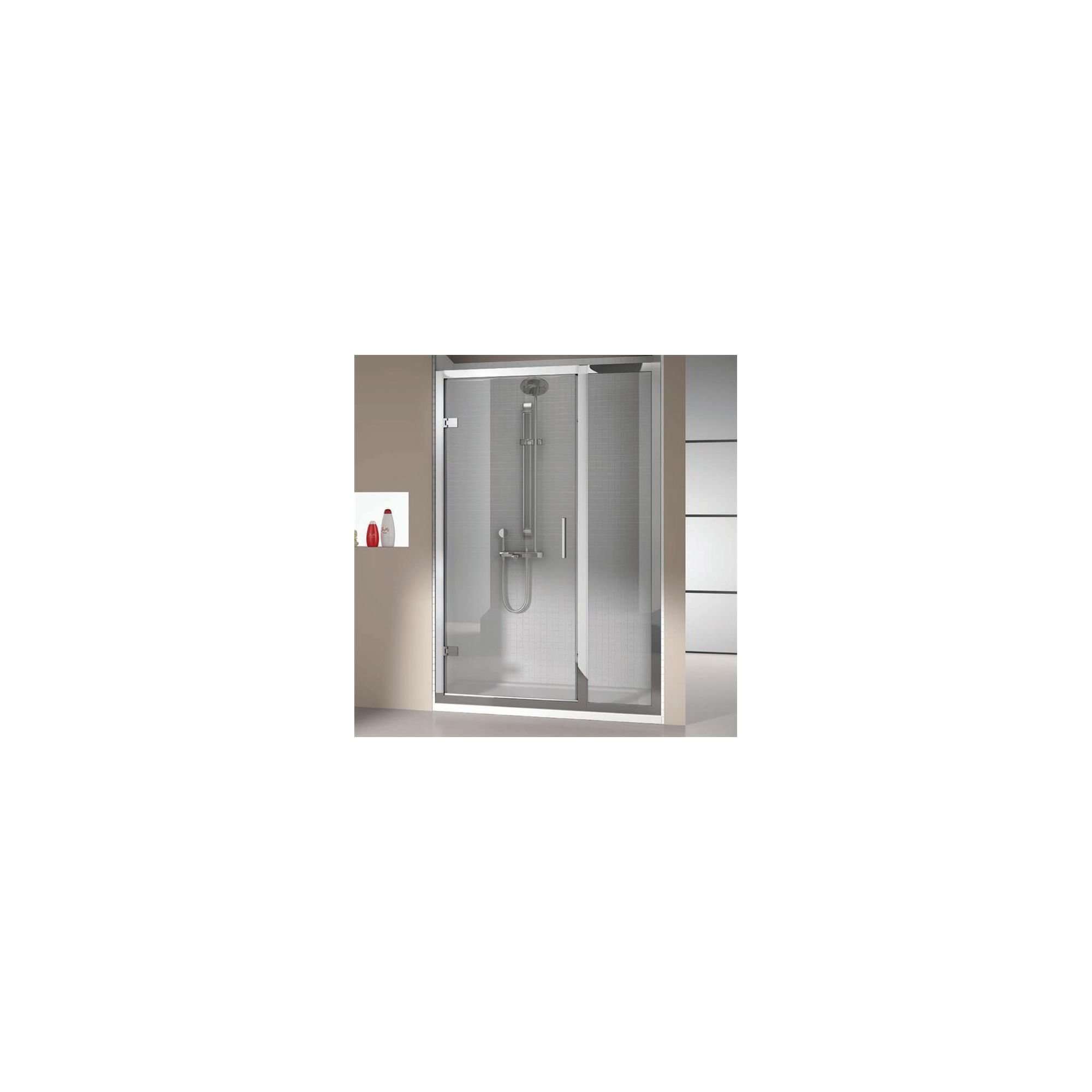 Merlyn Vivid Eight Hinged Shower Door with Inline Panel, 1400mm Wide, 8mm Glass at Tescos Direct