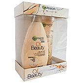 Garnier Oil Beauty Pampering Gift Set: Oil Lotion & Scrub
