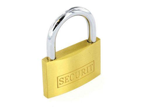 Securit S1131 Door Padlock Gold Brs 15mm