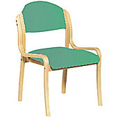 Eliza Tinsley Wooden framed stackable side chair - Aqua