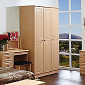 Welcome Furniture Pembroke Plain Wardrobe - 74 cm - Beech