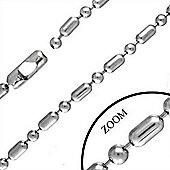 Urban Male Men's Modern Chain In Stainless Steel 6.5mm & 18in Long