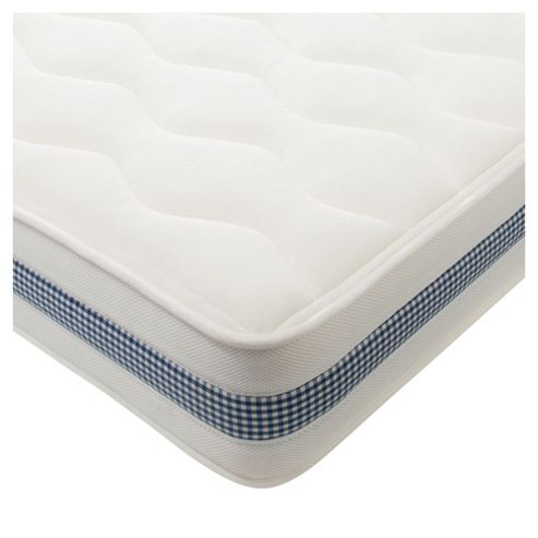 Kids Single Mattress - Deluxe, Blue Gingham