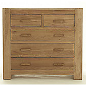Thorndon Block Bedroom 2 Over 3 Drawer Chest in Natural Matured Oak