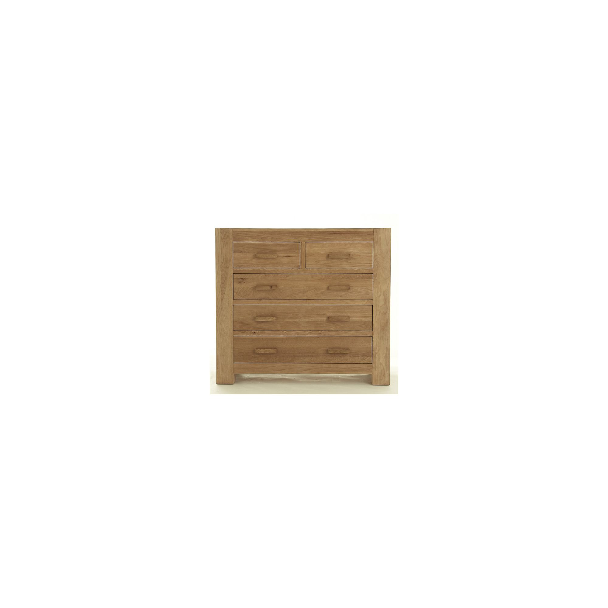 Thorndon Block Bedroom 2 Over 3 Drawer Chest in Natural Matured Oak at Tesco Direct