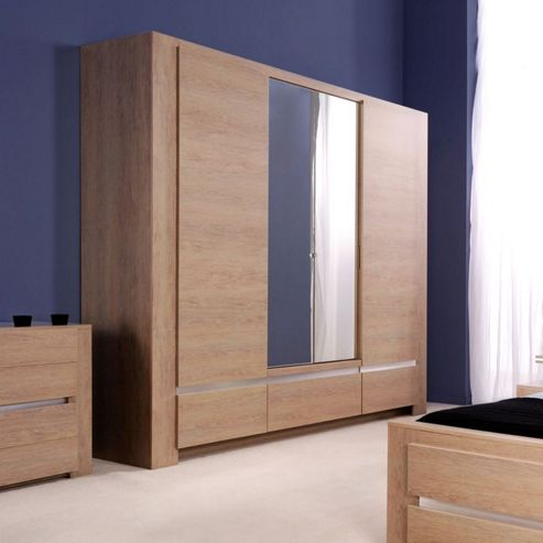 Parisot Shadow Four Door Wardrobe in Ash Oak