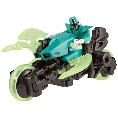 Power Rangers Super Samurai Cycle and 10cm Figure - Green