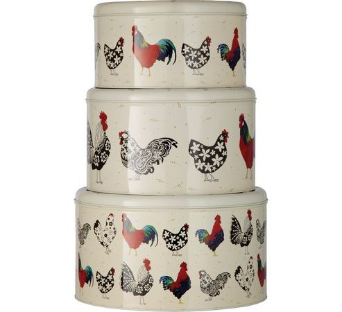 Set of 3 Rooster Cake Tins