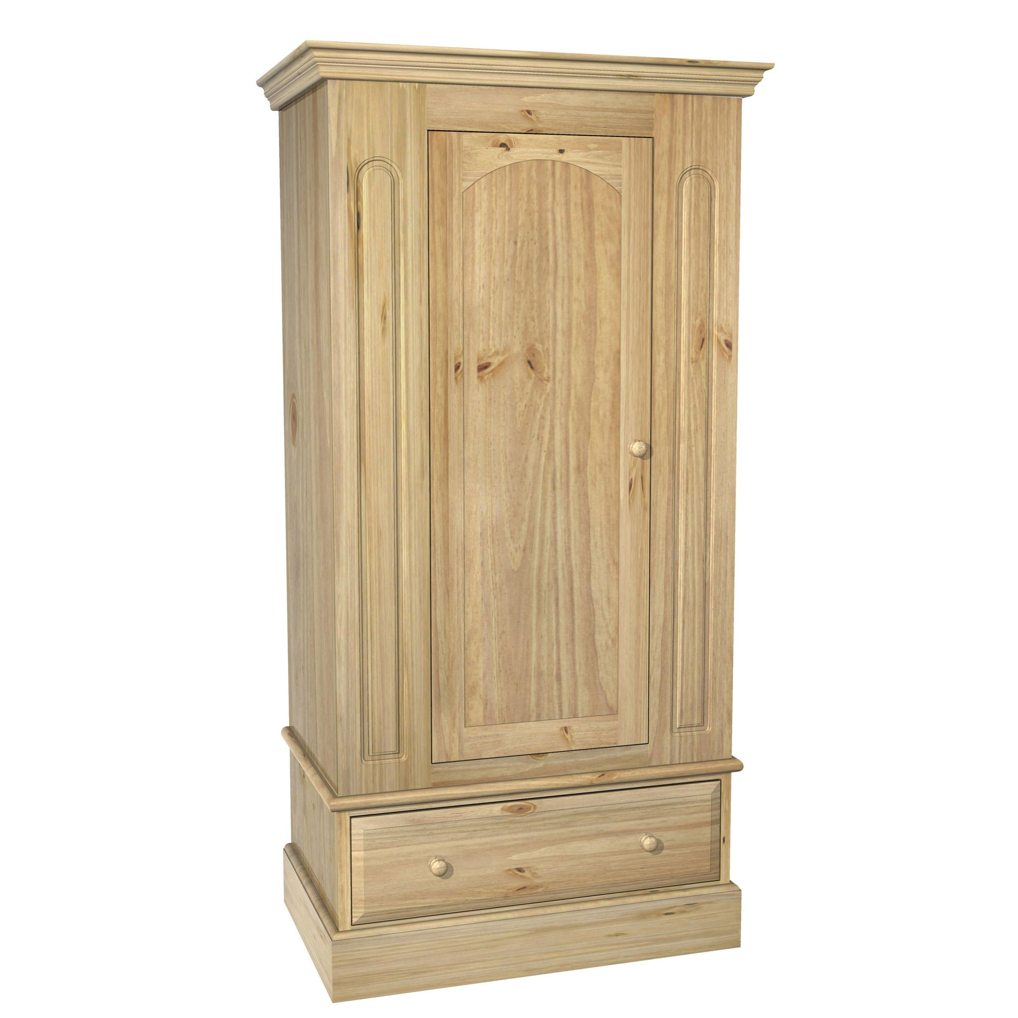 Kelburn Furniture Woodland Pine 1 Door 1 Drawer Wardrobe at Tesco Direct