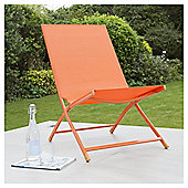 Metal Frame Folding Deckchair, Orange