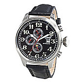 Ingersoll Gents Buffalo Black Leather Strap Watch IN1616BK