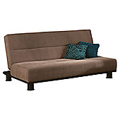 Limelight Triton 3 Seater Convertible Sofa Clic Clac Bed - Brown