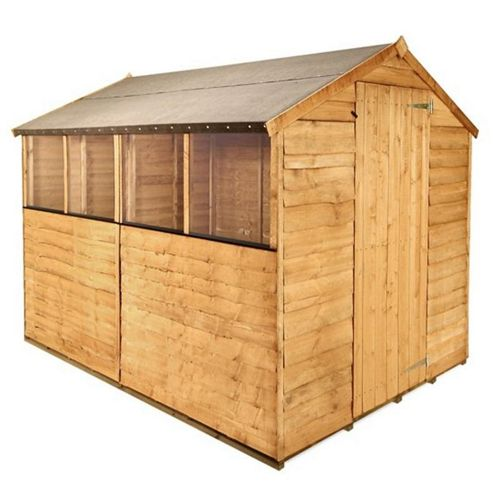 BillyOh 20 8 x 6 Rustic Overlap Apex Shed