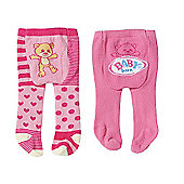 Baby Born Tights 2 Pack - Teddy Bear