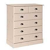 Terra 4+2 Drawers In Pine/White