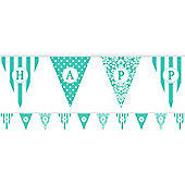 Banners Personalise It Paper Pennant Banner - Teal (each)