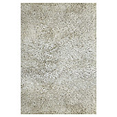 InRUGS Agra White Shaggy Rug - 230cm x 160cm (7 ft 6.5 in x 5 ft 3 in)