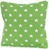 Homescapes Cotton Green Stars Scatter Cushion, 30 x 30 cm