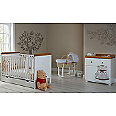 Obaby Winnie the Pooh Cot Bed/Drawer/Closed Changer Room Set