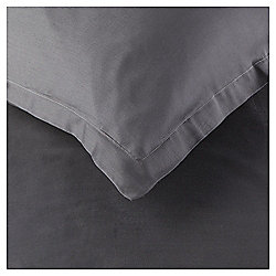 200TC Luxury Cotton Oxford Charcoal Pillowcase Pair