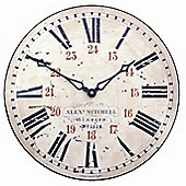 Roger Lascelles Clocks Station Wall Clock with 24 Hour Numerals