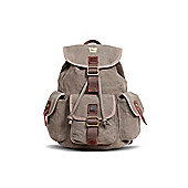 TRP0269 Troop London Heritage Small Canvas Backpack Brown