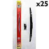 Stadium - Universal Fit Spoiler Wiper Blades 16inch - 25 Pack