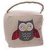 Puckator Embroidered Grey Owl Fabric Doorstop