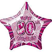 80th 20' Star Foil Balloon (each)