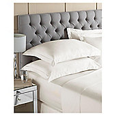 Tesco Fitted Sheet Ivory, Double
