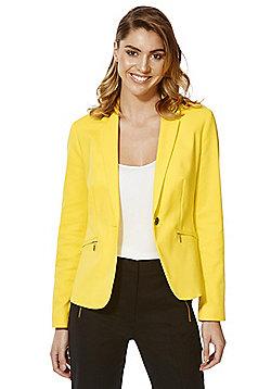 F&F Zip Pocket Suit Jacket - Bright yellow