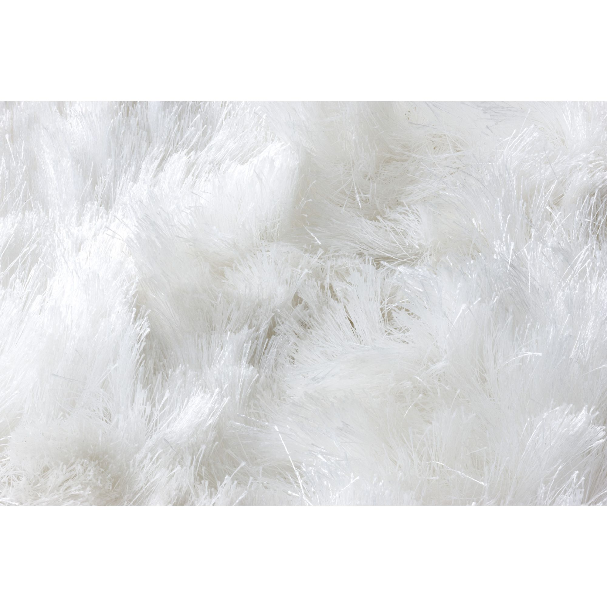 Linie Design Maltino White Shag Rug - 200cm x 140cm at Tesco Direct