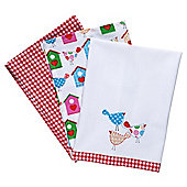 Tesco Tweet Tea Towels 3 Pack