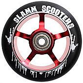 Slamm 100mm Essential Spoke Metal Core Scooter Wheel and Bearings - Red