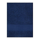 Zero Twist Face Cloth Set Of 4 In Navy