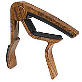 Tiger Capo for Guitar - Dark Wood Finish