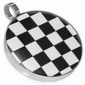 Urban Male Men's Black & White Checker Board Pendant