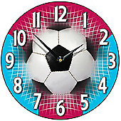 Smith & Taylor Football Wall Clock in Claret and Blue