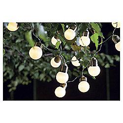 20 Light Bulb Solar String Lights