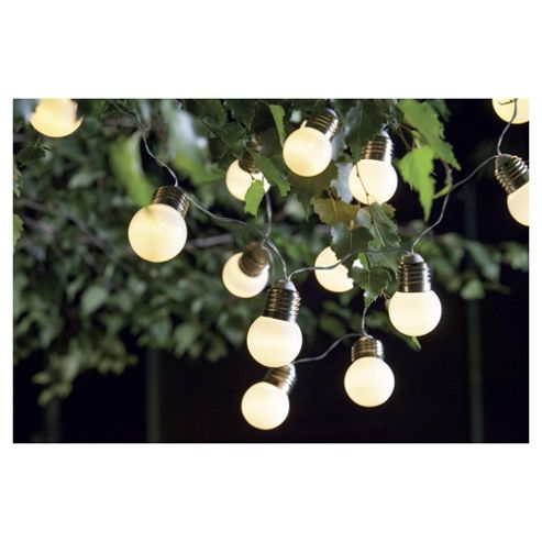 buy tesco white solar string lights 20 bulbs from our. Black Bedroom Furniture Sets. Home Design Ideas