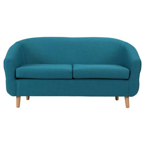 Retro Fabric Tub Sofa Teal