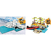 Deadly 60 Bundle - Arctic Adventure And Deadly 60 River Crossing Playset - 2 Items Supplied