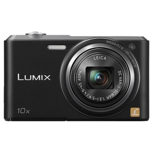 Panasonic Lumix SZ3 Digital Camera, Black, 16MP, 10x Optical Zoom, 2.7