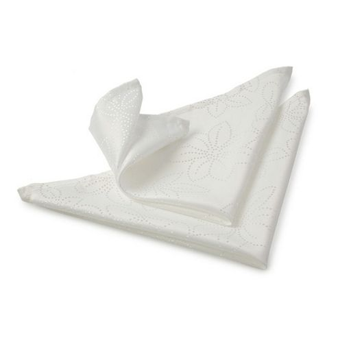 Blue Canyon Rosetta Napkin Set - White